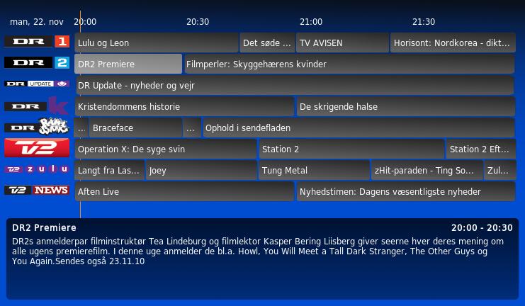 tv oversigt alle programmer